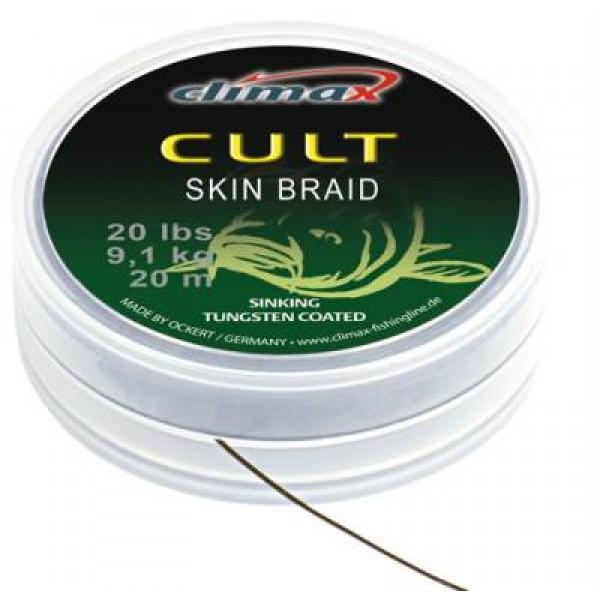 Поводковый материал в матовой оплетке Climax CULT Skin Braid 30 lb 20 m camou NEW!!!