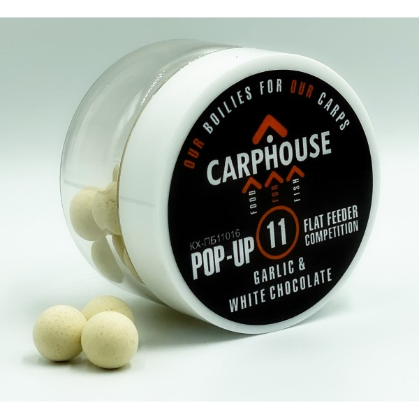 Бойлы Pop-Up Чеснок и Белый Шоколад 11 мм Flat Feeder Competition