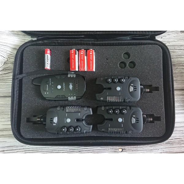 Оригинальные сигнализаторы Monster Carp 2 3+1 с чёрными панельками гар.1год